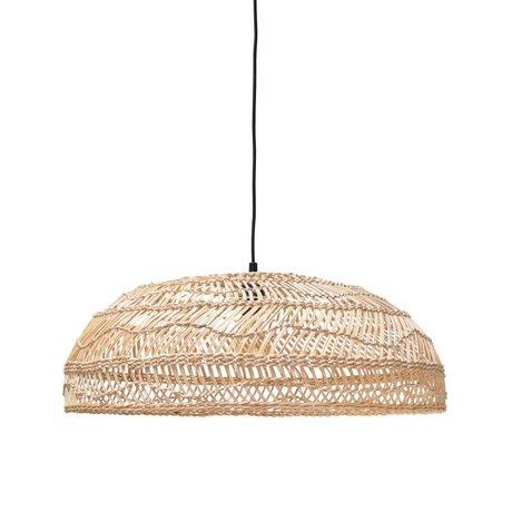 HK-living Lámpara colgante tejido a mano color beige 45x45x20cm Ried