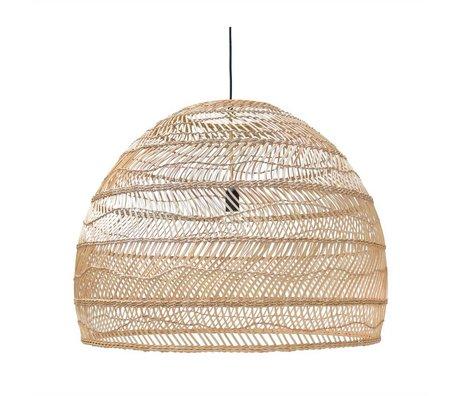 HK-living Lámpara colgante tejido a mano color beige 80x80x60cm Ried
