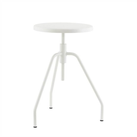 Housedoctor Stool Scarpa gray metal Ø32x50cm