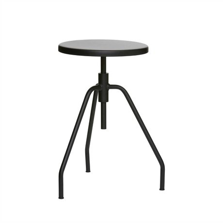 Housedoctor Stool Scarpa black metal Ø32x50cm