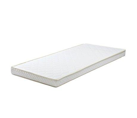 LEF collections Materasso 90x190x12cm bianco tessile cassetto polietere materasso
