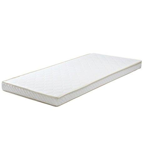 LEF collections Colchón 90x190x12cm textil blanco cajón colchón de poliéter