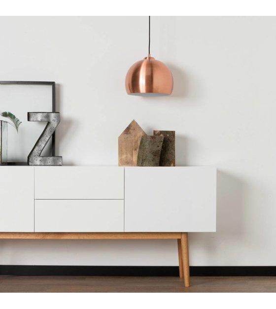 zuiver h ngende lampe big glow kobber metal 27x21cm. Black Bedroom Furniture Sets. Home Design Ideas