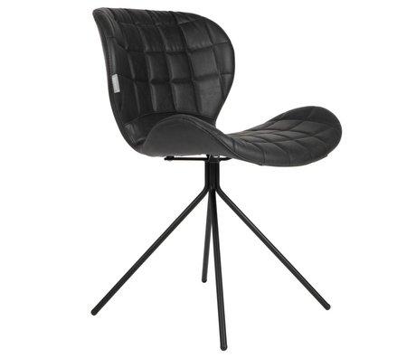 Zuiver Salle à manger chaise OMG LL similicuir noir 51x56x80cm