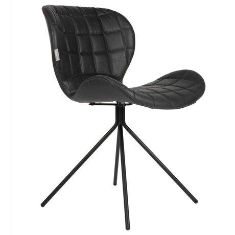 Zuiver Spisebordsstol OMG LL sort kunstlæder 51x56x80cm