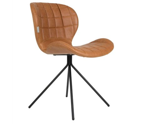 Zuiver Yemek sandalye OMG LL kahverengi 51x56x80cm deri