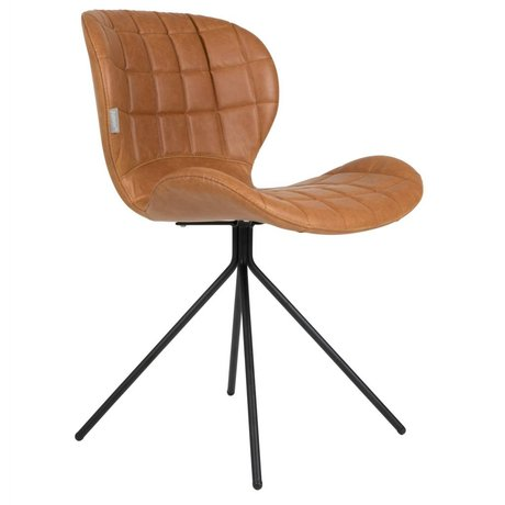 Zuiver Dining chair OMG LL brown 51x56x80cm leatherette