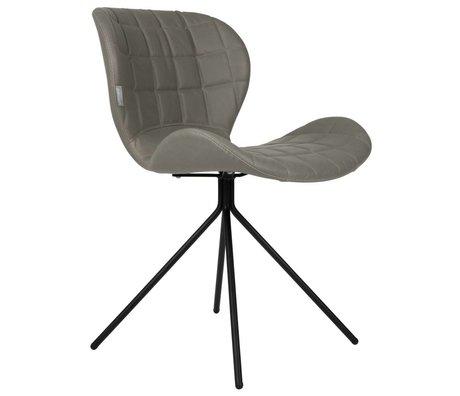 Zuiver silla de comedor OMG LL gris de piel sintética 51x56x80cm