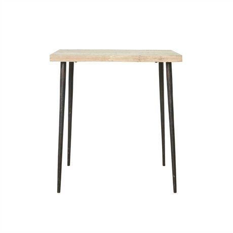 Housedoctor Tisch Slated Mangoholz Metall 76x70x70cm