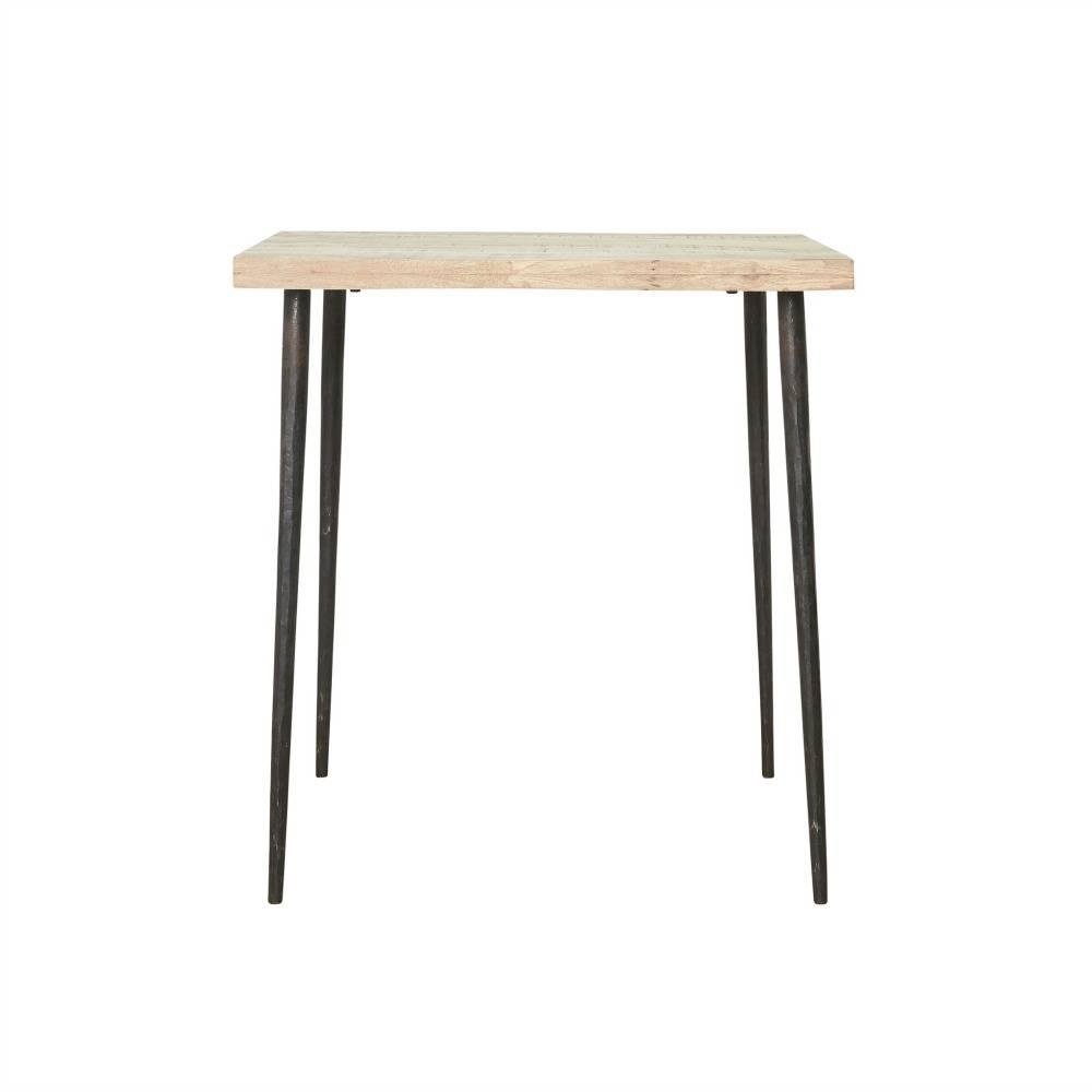 housedoctor tisch slated mangoholz metall 76x70x70cm. Black Bedroom Furniture Sets. Home Design Ideas
