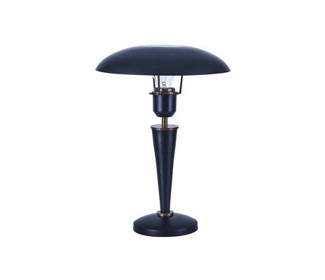 Housedoctor Table Lamp Opal black brass metal 34cm