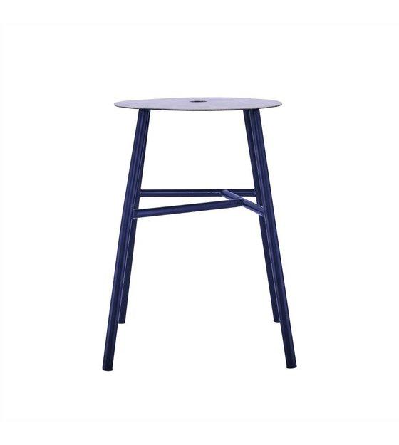 housedoctor hocker k stool schwarz stahl leder 48x35x35cm. Black Bedroom Furniture Sets. Home Design Ideas