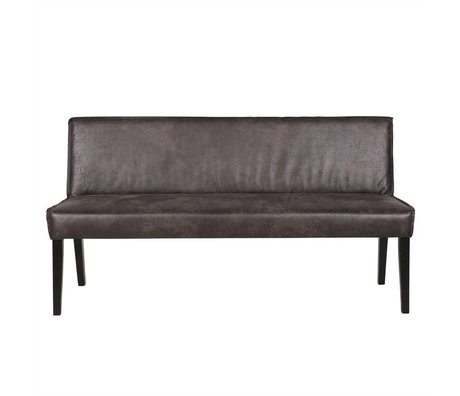 BePureHome Bank Rodeo schwarz Leder 83x156x61cm