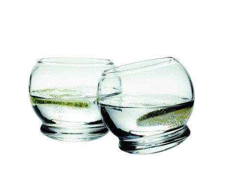 Normann Copenhagen Glas Rocking sæt med 4 briller ø9x8cm