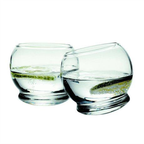 Normann Copenhagen Glass Rocking set of 4 glasses ø9x8cm