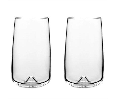 Normann Copenhagen Long drink vetro set di 2 bicchieri ø8x13,6cm