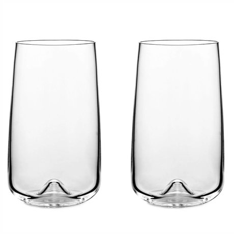 Normann Copenhagen Glass Long drink set of 2 glasses ø8x13,6cm