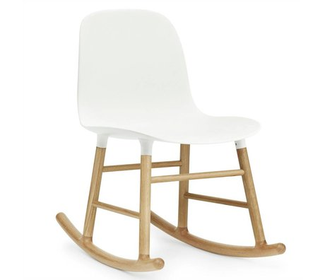 Normann Copenhagen Mecedora forma de silla de roble blanco kunststof 73x48x65cm madera