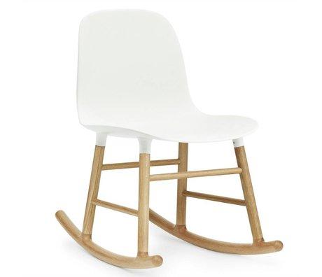 Normann Copenhagen Sallanan sandalye formu beyaz meşe ahşap 73x48x65cm Kunststof