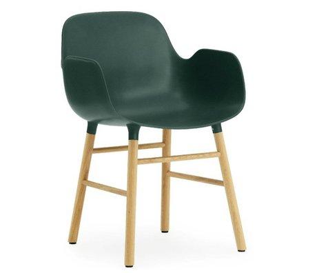 Normann Copenhagen forma sillón de plástico verde 79,8x56x52cm roble