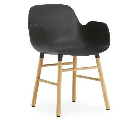 Normann Copenhagen forme Fauteuil chêne plastique noir 79,8x56x52cm