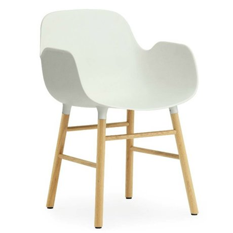 Normann Copenhagen forma poltrona di plastica bianca quercia 79,8x56x52cm