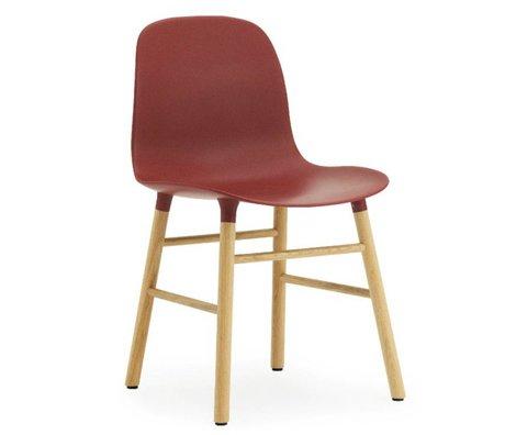 Normann Copenhagen Chaise en plastique moule chêne rouge 78x48x52cm
