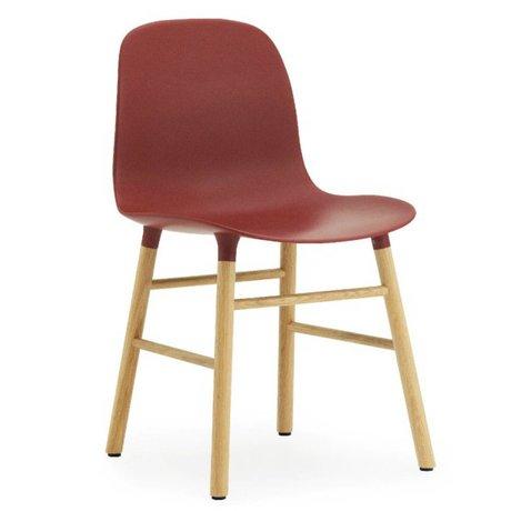 Normann Copenhagen Sandalye kalıp plastik kırmızı meşe 78x48x52cm