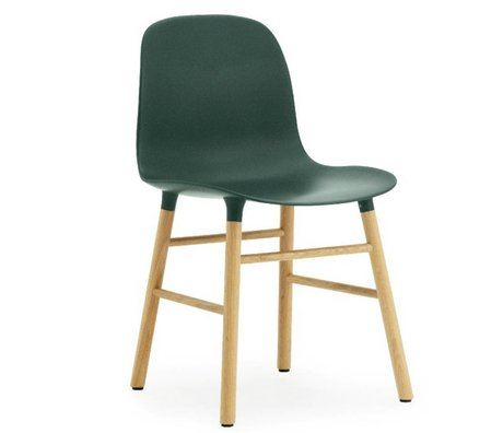 Normann Copenhagen Chair mold plastic green oak 78x48x52cm