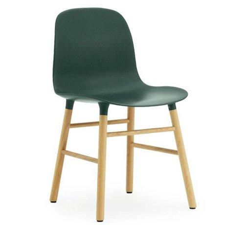 Normann Copenhagen grøn eg 78x48x52cm Chair skimmel plast
