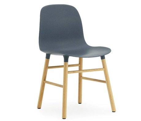 Normann Copenhagen Chaise en plastique moule chêne bleu 78x48x52cm
