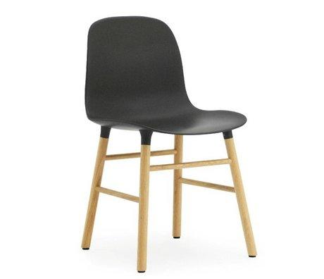 Normann Copenhagen Sandalye kalıp plastik siyah meşe 78x48x52cm