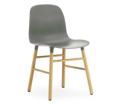 Normann Copenhagen Chair mold plastic gray oak 78x48x52cm