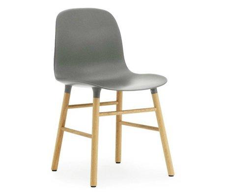 Normann Copenhagen Chaise en plastique moule chêne gris 78x48x52cm