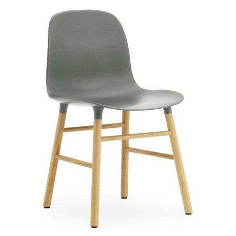 Normann Copenhagen Sandalye kalıp plastik gri meşe 78x48x52cm