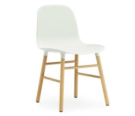 Normann Copenhagen Chaise en plastique moule chêne blanc 78x48x52cm