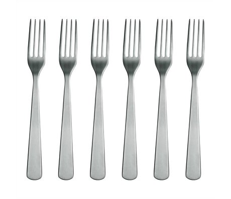 Normann Copenhagen Fork Normann Cutlery stainless steel set of 6 forks