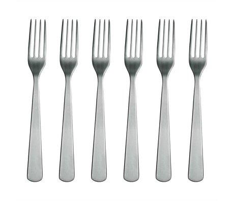 Normann Copenhagen Gabeln Normann Cutlery aus rostfreiem Stahl Set mit 6 Gabeln