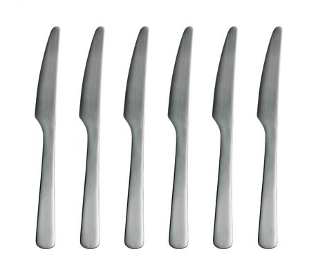 Normann Copenhagen Knife Normann Cutlery stainless steel Set of 6 knives