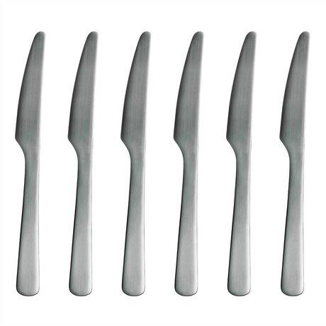 Normann Copenhagen Cuchillo de acero inoxidable Normann Cubiertos Juego de 6 cuchillos