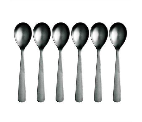 Normann Copenhagen Teelöffel Normann Cutlery aus rostfreiem Stahl, Set mit 6 Teelöffeln