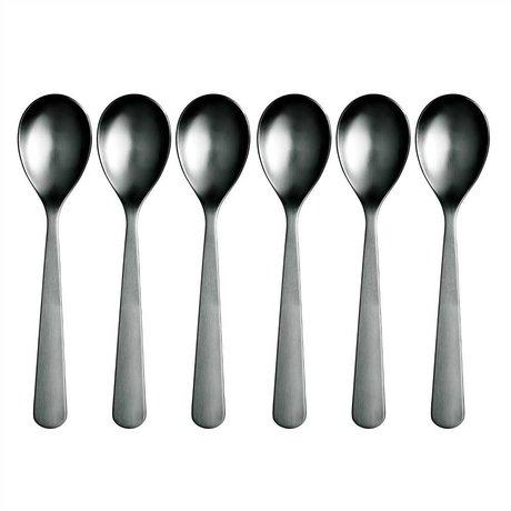 Normann Copenhagen Con una cuchara de acero inoxidable Normann Cubiertos conjunto de 6 cucharas