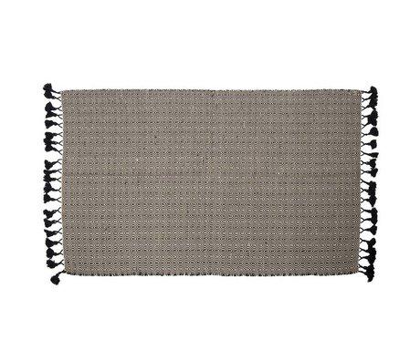 Zuiver Alfombra Ziggy 120X180cm de algodón negro