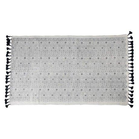 Zuiver Tappeto Graphic 120x180cm cotone nero