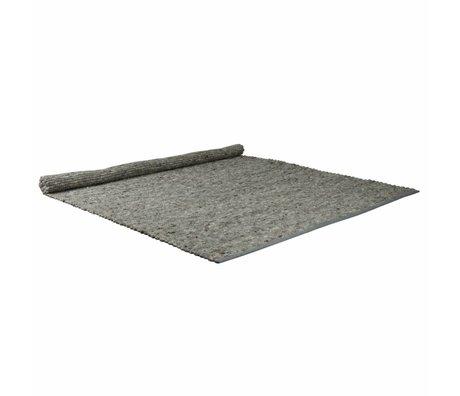 Zuiver luz alfombra de lana gris de sisal 200x300cm