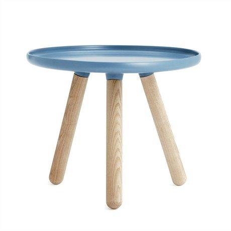 Normann Copenhagen Tabella Tablo plastica blu legno di frassino Ø50cm