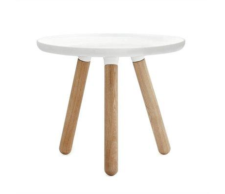 Normann Copenhagen Table Tablo plastique blanc Ø50cm de bois de frêne