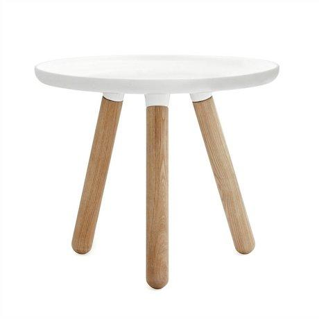 Normann Copenhagen tablo mesa de plástico blanco Ø50cm madera de fresno