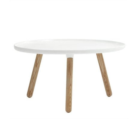 Normann Copenhagen Table Tablo white plastic ash ø78cm