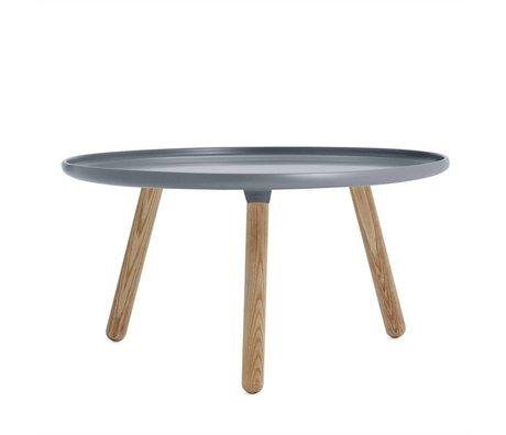 Normann Copenhagen Tisch Tablo grau aus  Eschenholz und Kunststoff ø78cm